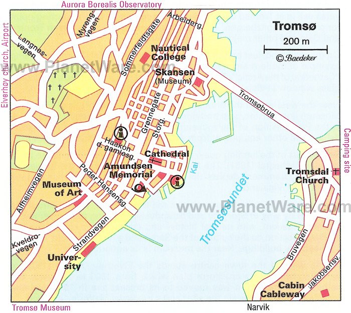Tromsø Map - Tourist Attractions