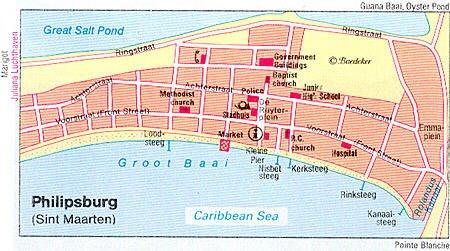 Philipsburg Sint Maarten Netherlands Antilles Cruise Port Of Call - Netherlands antilles map