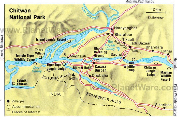 Chitwan Nepal  city photo : Chitwan National Park, Central Nepal Floor plan map
