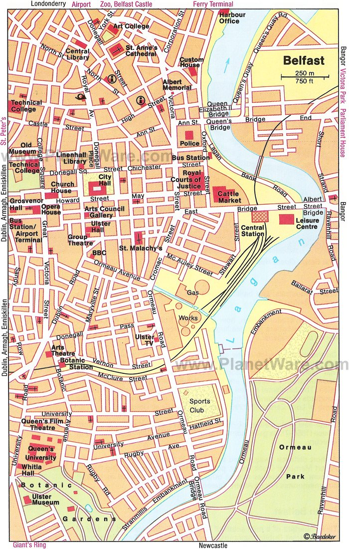 Belfast Map - Tourist Attractions