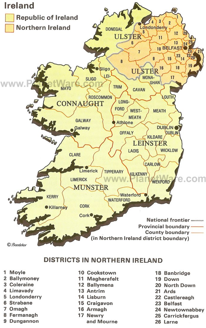 Northern Ireland Travel Guide – Tourist Attractions Map In Ireland