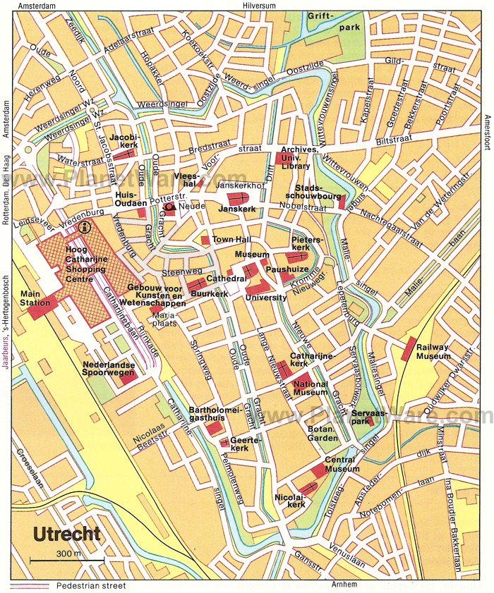 10 TopRated Tourist Attractions in Utrecht – Amsterdam City Centre Map Tourist