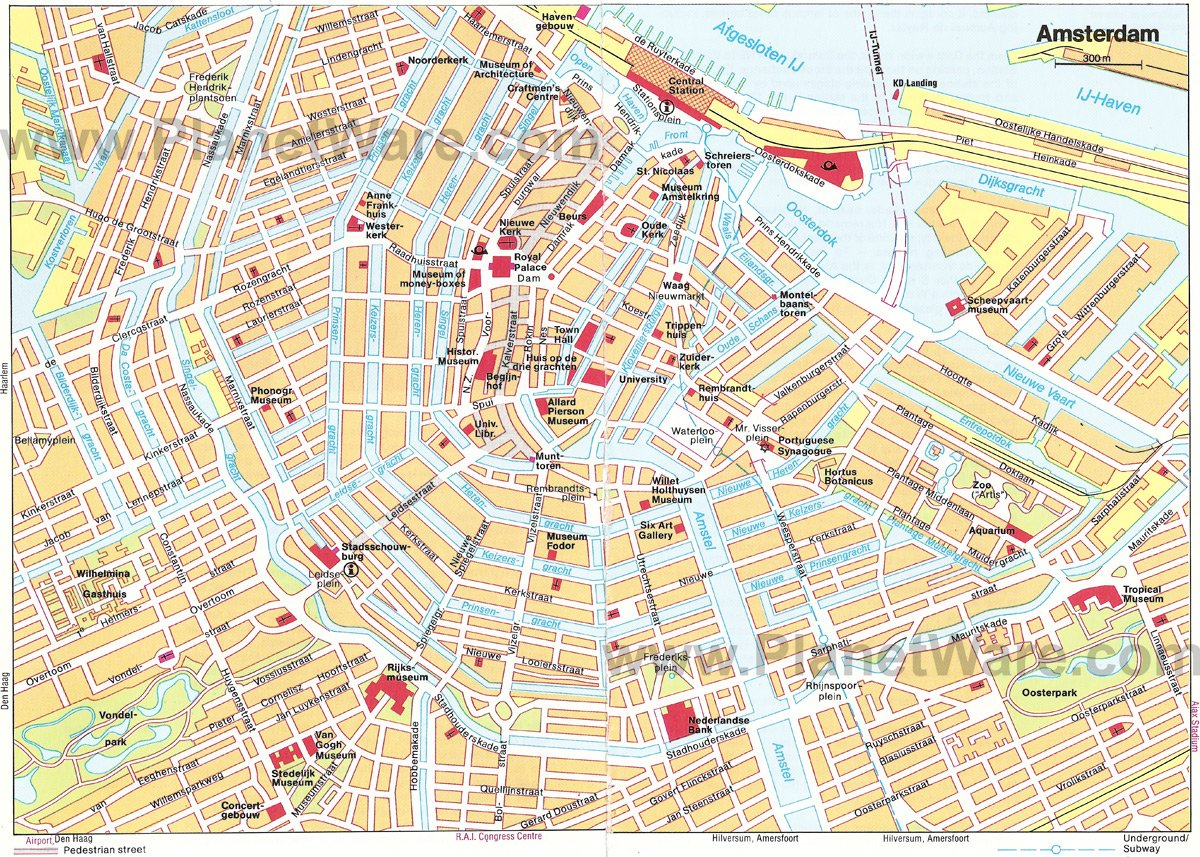 16 TopRated Tourist Attractions in Amsterdam – Tourist Map Of Amsterdam