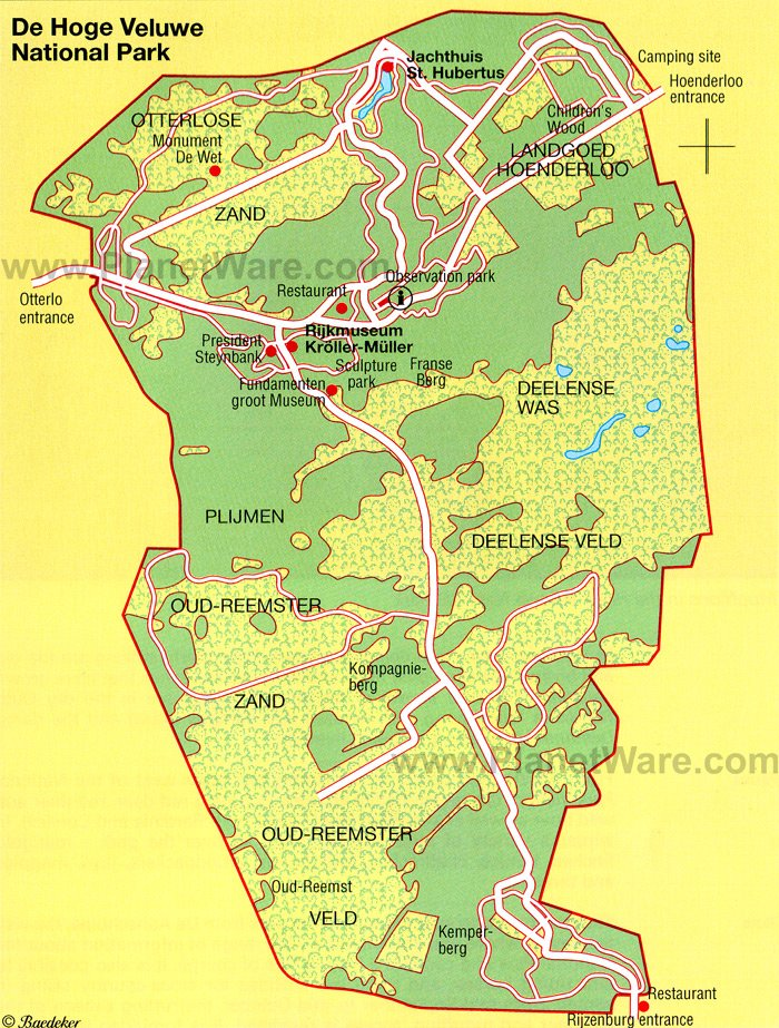 De Hoge Veluwe National Park - Floor plan map