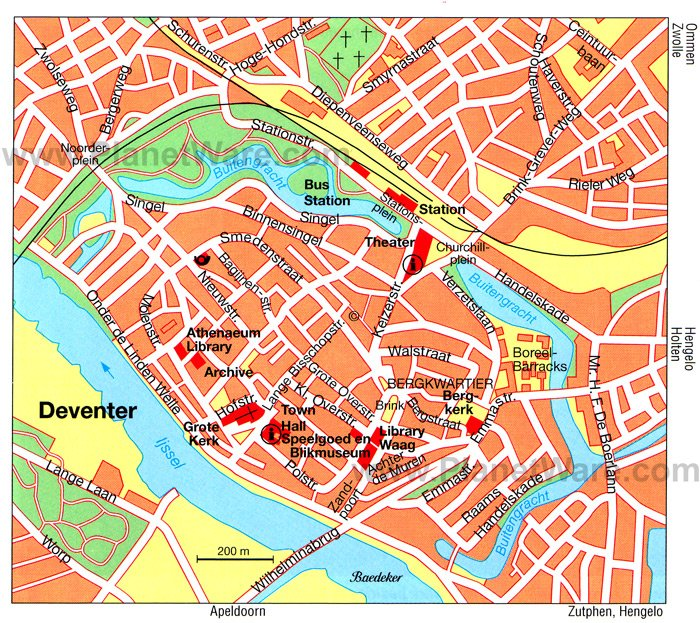 Deventer Map - Tourist Attractions