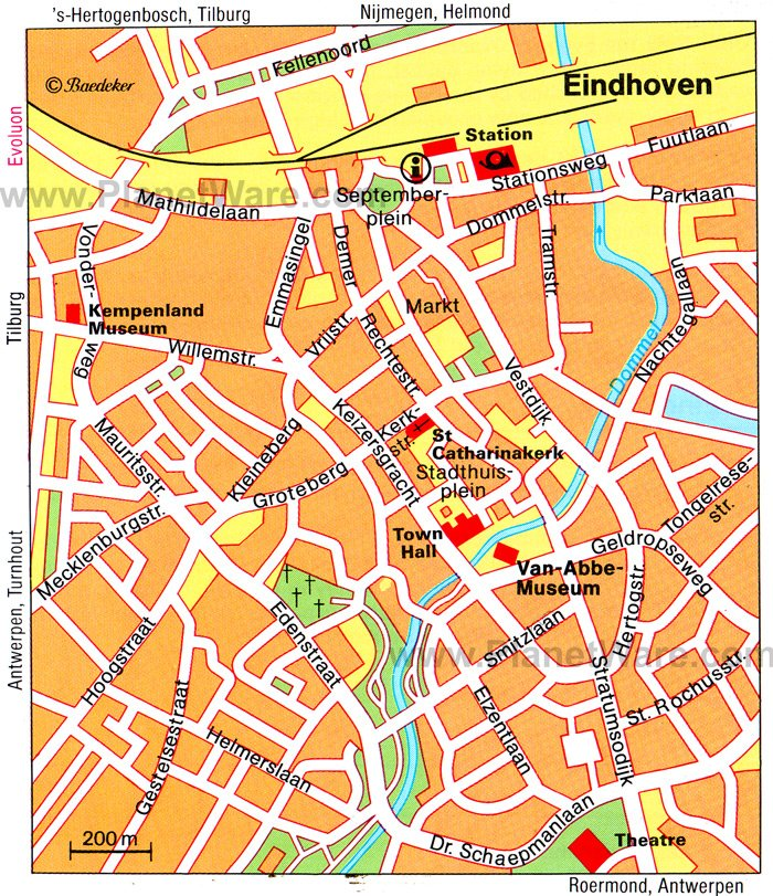 Eindhoven Map - Tourist Attractions