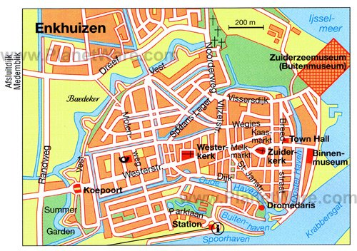 Enkhuizen Map - Tourist Attractions