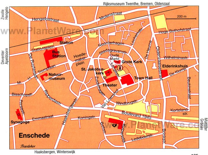 Enschede Map - Tourist Attractions