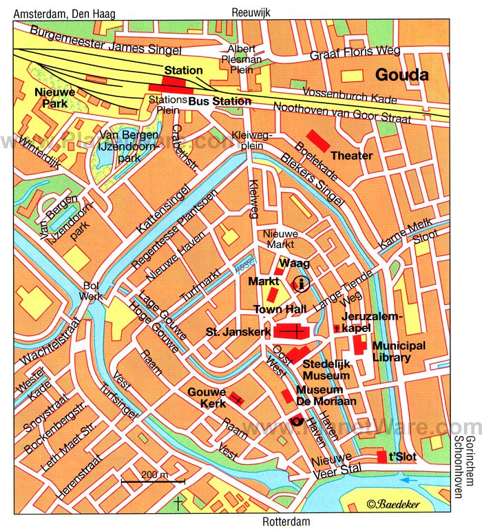 Gouda Map - Tourist Attractions