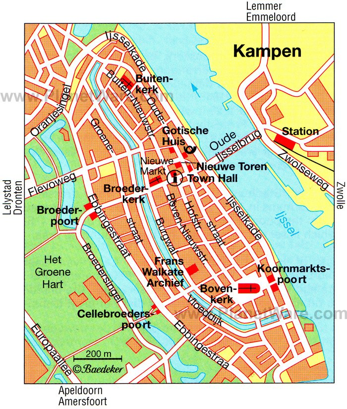 Kampen Map - Tourist Attractions