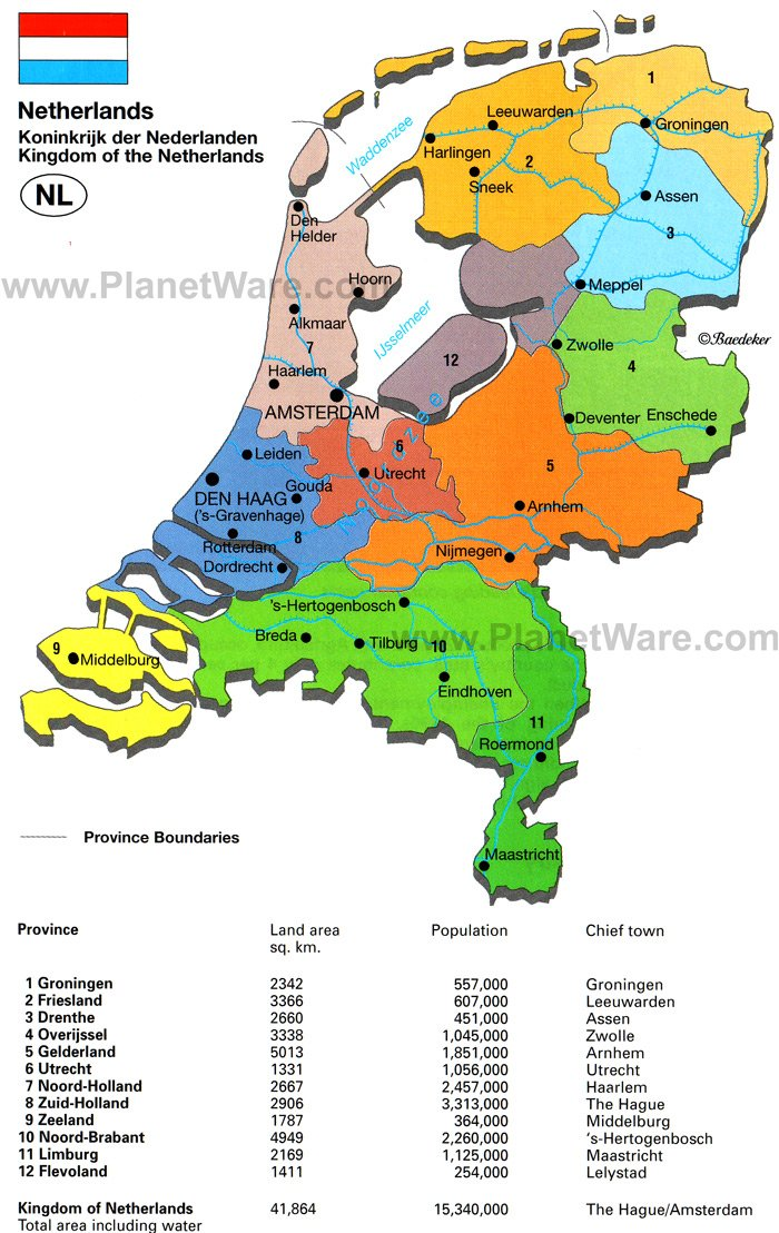 Map of Kingdom of the Netherlands | PlanetWare