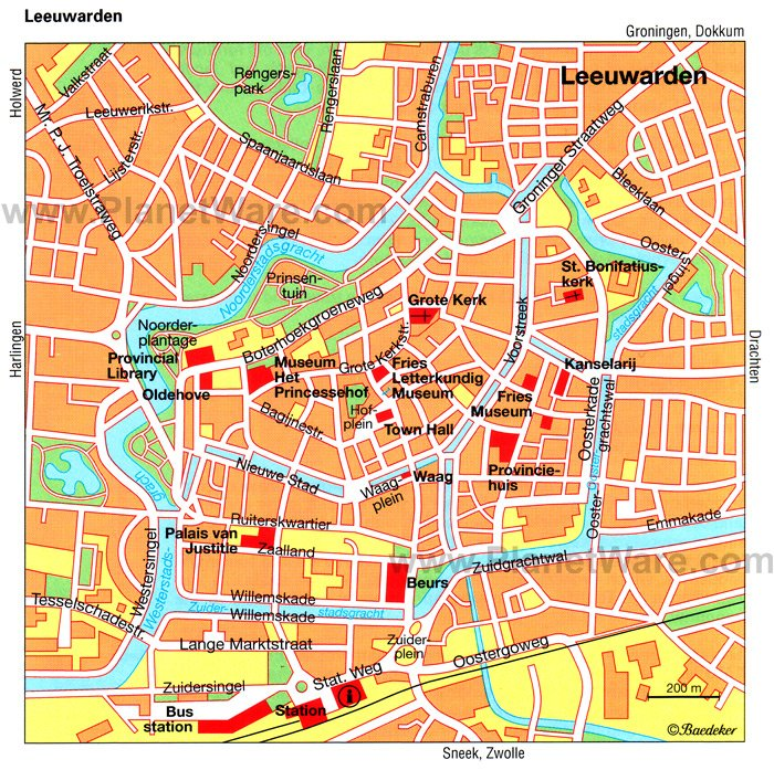 Leeuwarden Map - Tourist Attractions