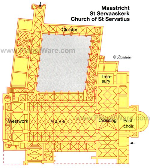 Maastricht Church of St Servatius - Floor plan map