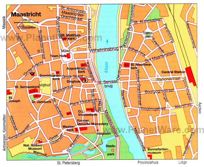 Maastricht Map - Tourist Attractions