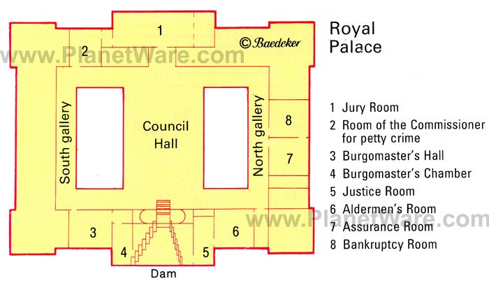 Netherlands - Royal Palace - Floor plan map