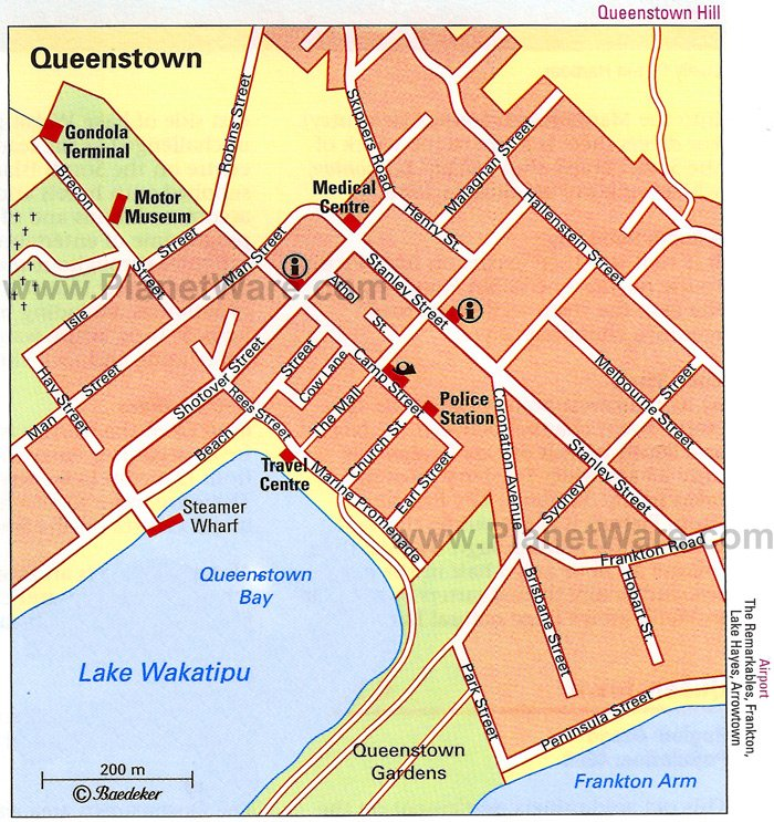 Queenstown Map - Tourist Attractions