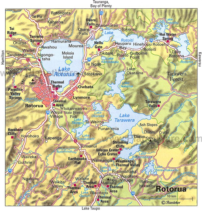Rotorua Map - Tourist Attractions