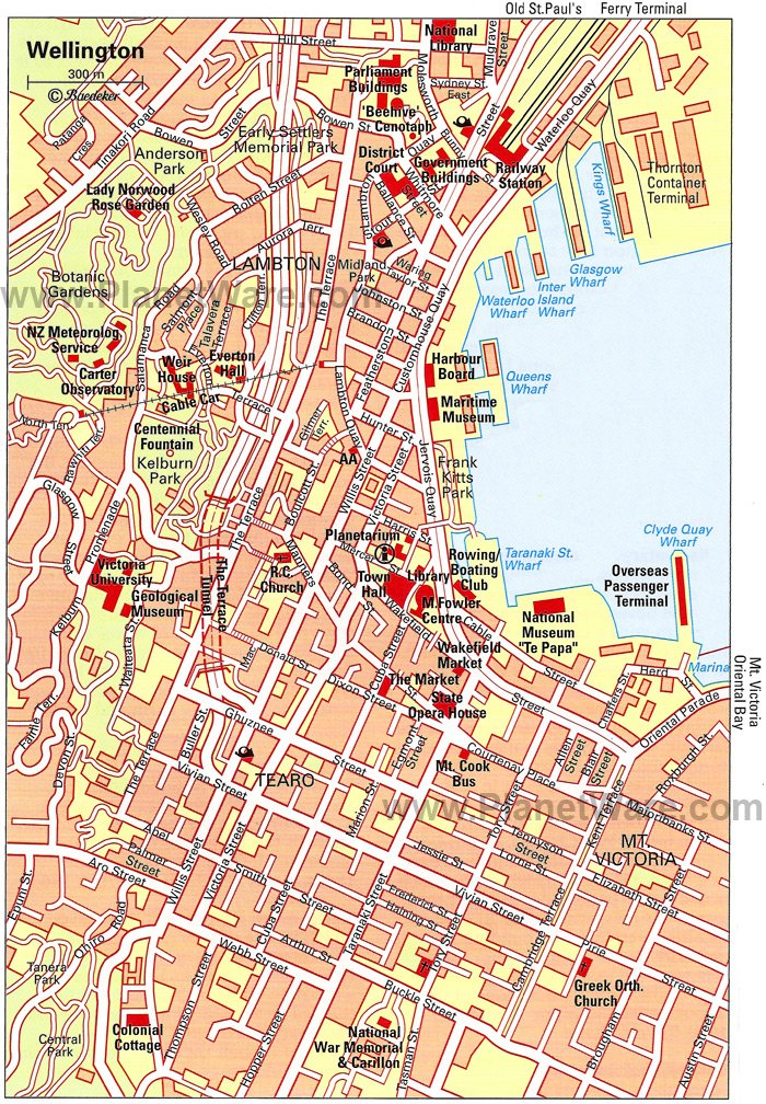 wellington map tourist attractions