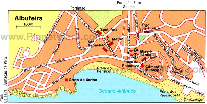 Albufeira Map - Tourist Attractions