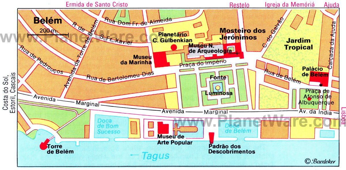 mapa de belem lisboa 11 Top Rated Tourist Attractions in Belem | PlanetWare mapa de belem lisboa