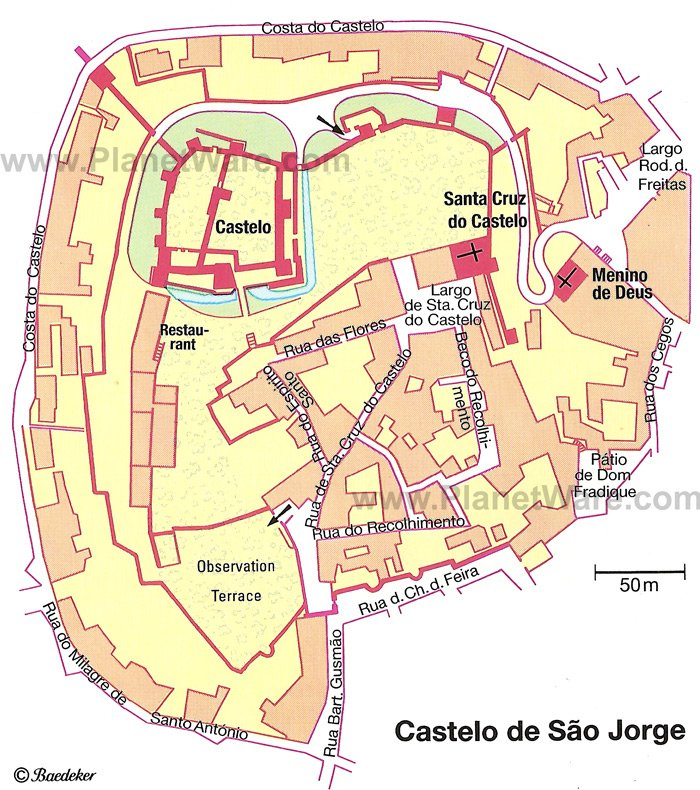 Castelo de Sao Jorge - Floor plan map