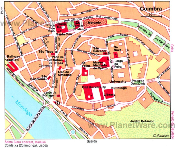 Coimbra Map - Tourist Attractions