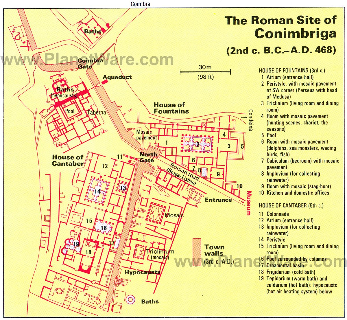 Simple Site Map: 13 Top Tourist Attractions In Coimbra & Easy Day Trips