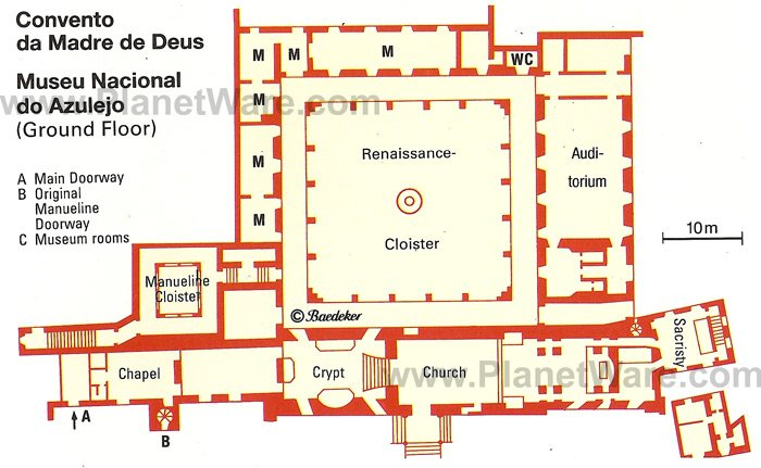 Convento da Madre de Deus - Floor plan map