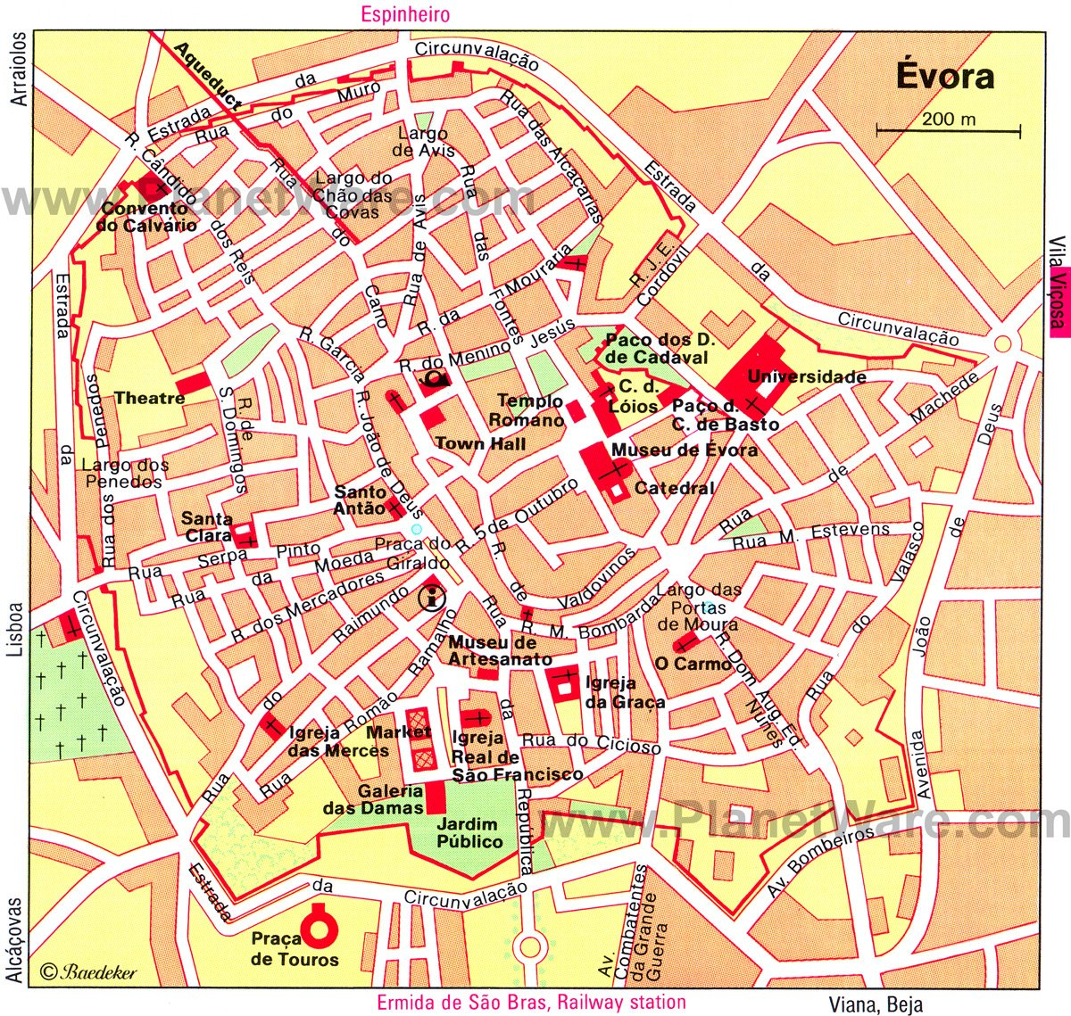 12 Top Tourist Attractions in Evora and Easy Day Trips – Lisbon Tourist Map Printable