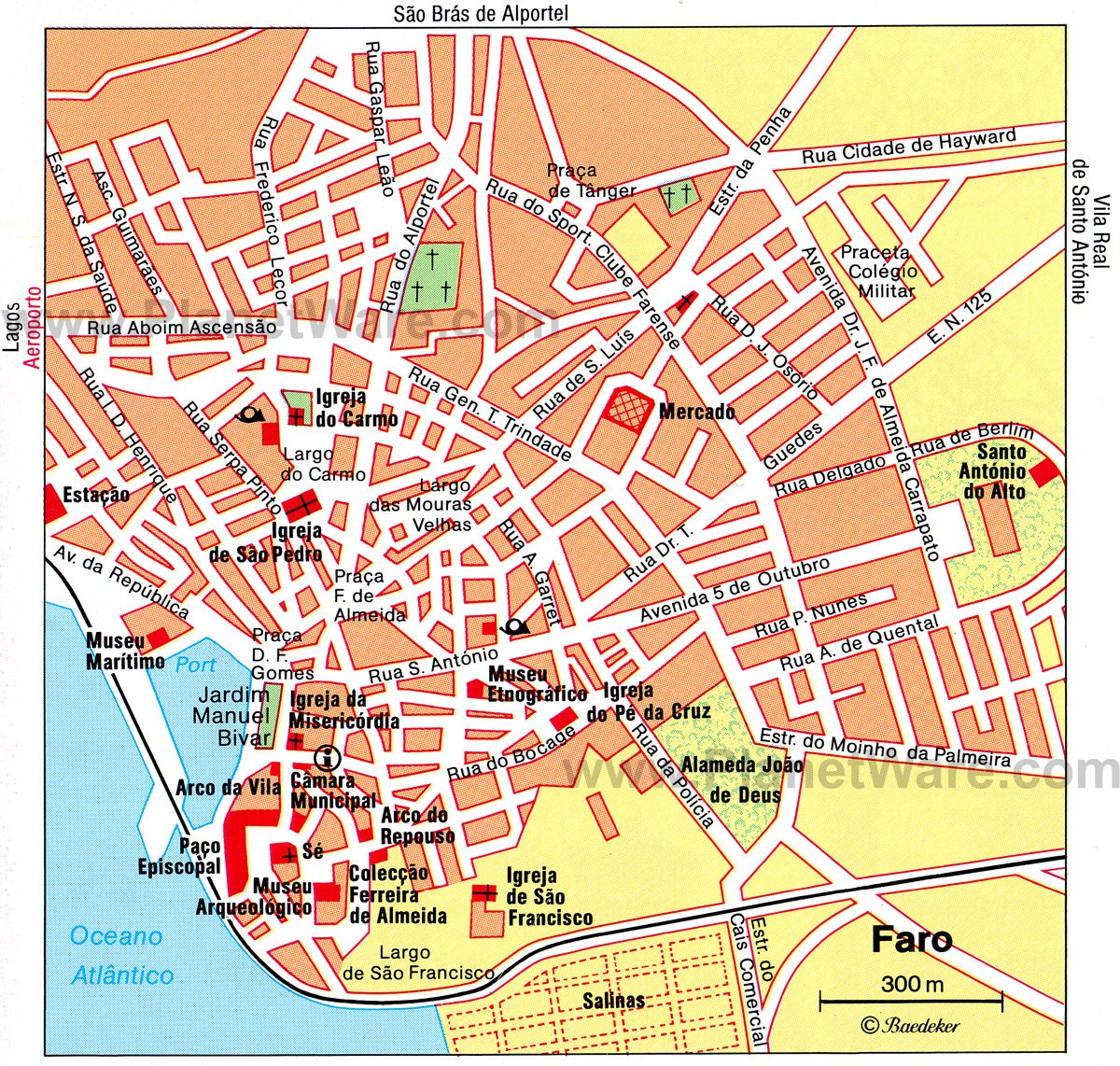 Faro Map - Tourist Attractions