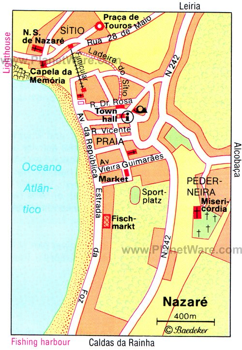 Nazare Map - Tourist Attractions