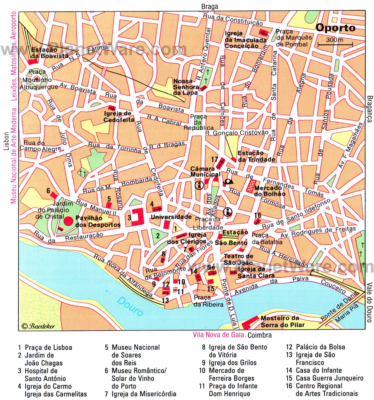 14 TopRated Tourist Attractions in Porto – Lisbon Tourist Map Printable