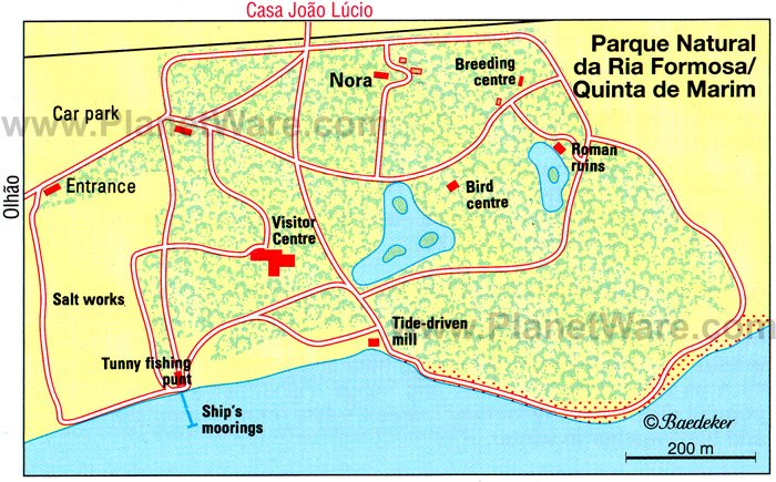 Parque Natural da Ria Formosa - Layout map