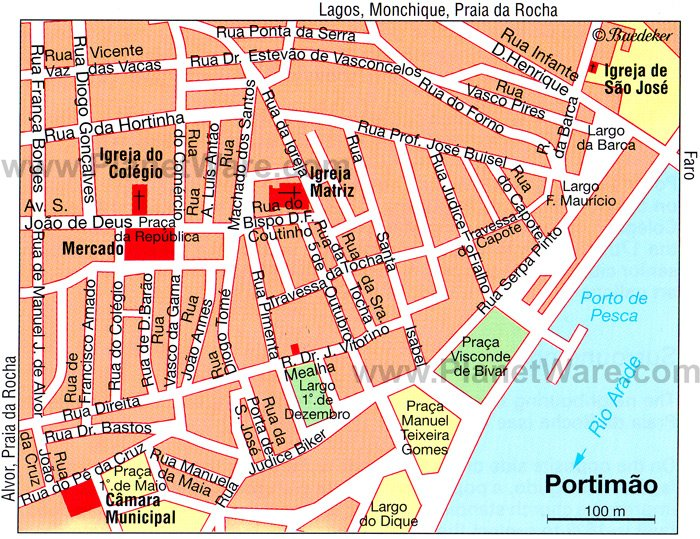 Top Tourists Attractions in Portimao and Easy Day Trips – Lisbon Tourist Map Printable