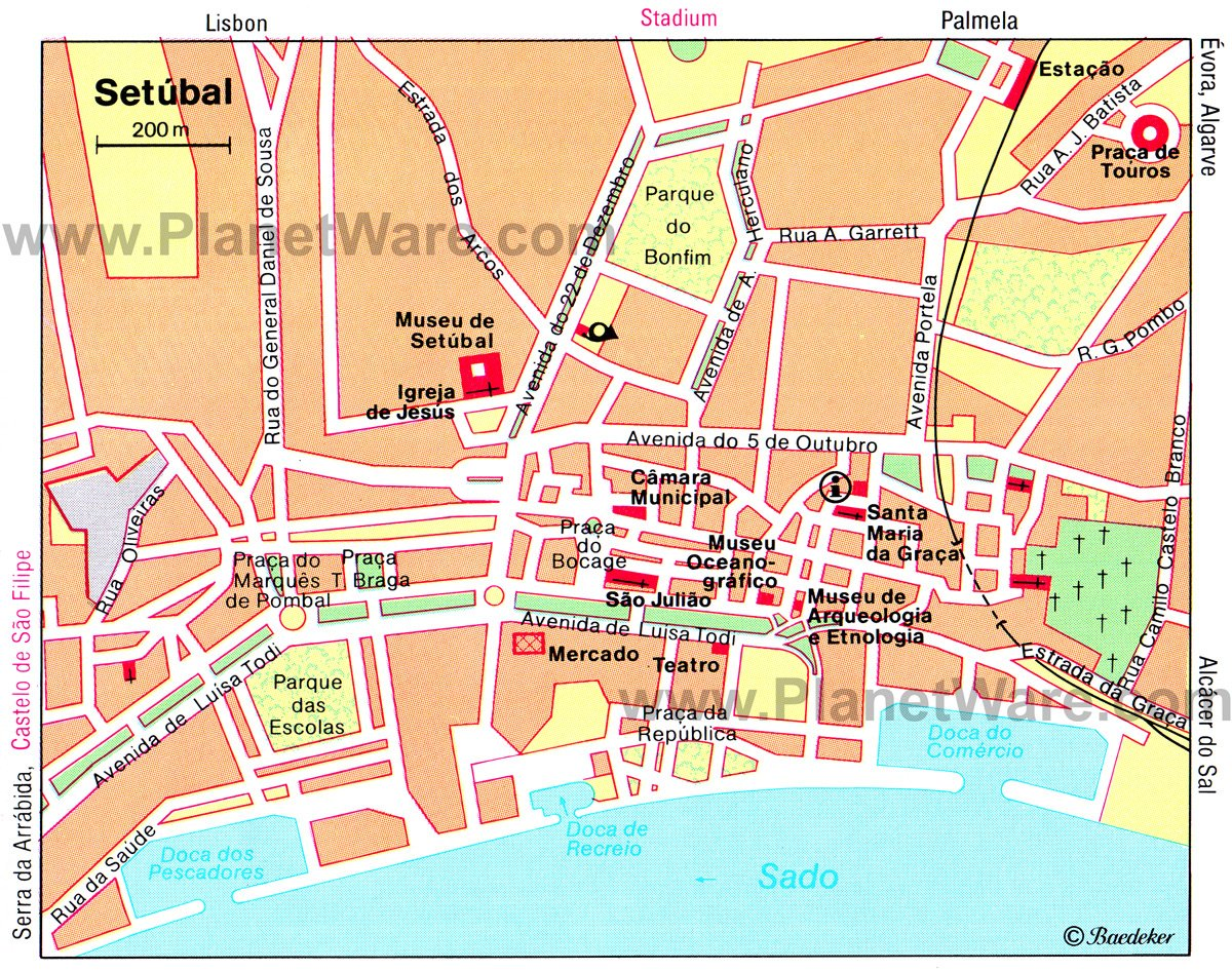 Setúbal Map - Tourist Attractions