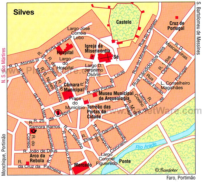 Silves Map - Tourist Attractions