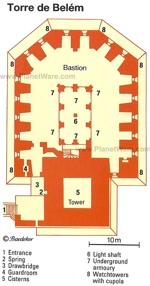 Torre de Belem - Floor plan map