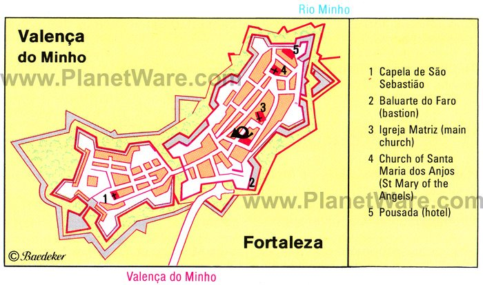 Valenca Portugal Pictures CitiesTipscom - Portugal map minho