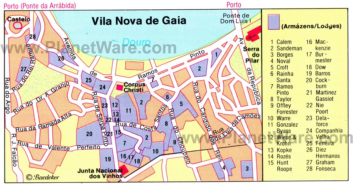 Vila Nova de Gaia - Floor plan map