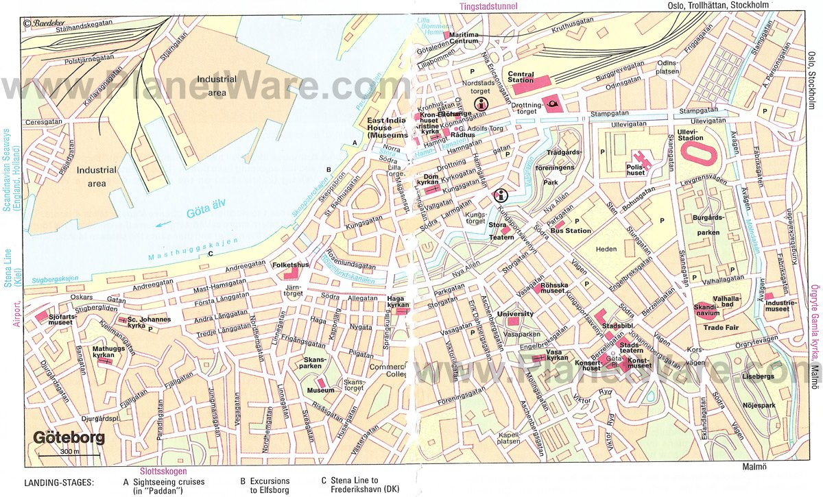 Gothenburg Sweden Cruise Port Of Call - Sweden map printable