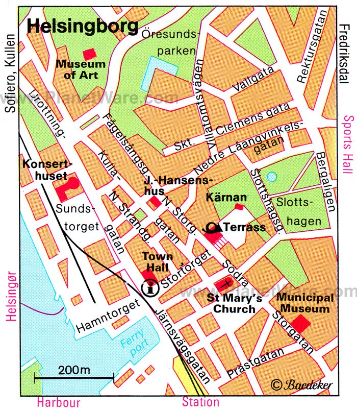 Helsingborg Map - Tourist Attractions