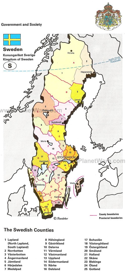 Map Of Kingdom Of Sweden PlanetWare - Sweden map varmland
