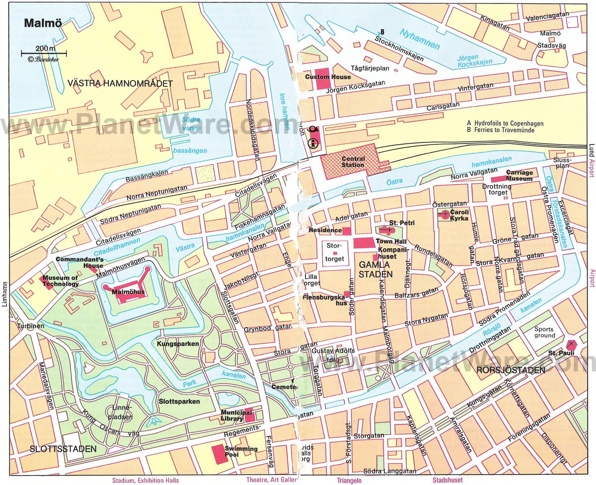 Malmo Sweden Cruise Port of Call – Sweden Tourist Attractions Map