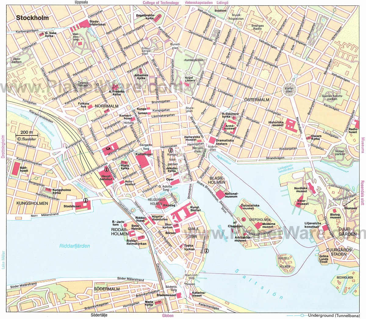 TopRated Tourist Attractions In Stockholm PlanetWare - Sweden map printable