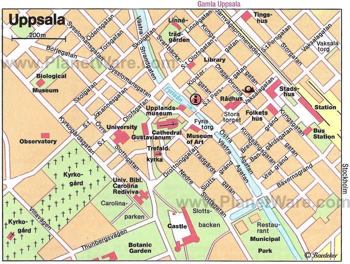 Uppsala Map - Tourist Attractions