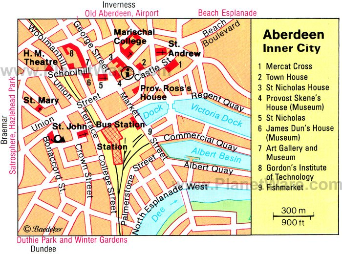 Aberdeen Map - Tourist Attractions