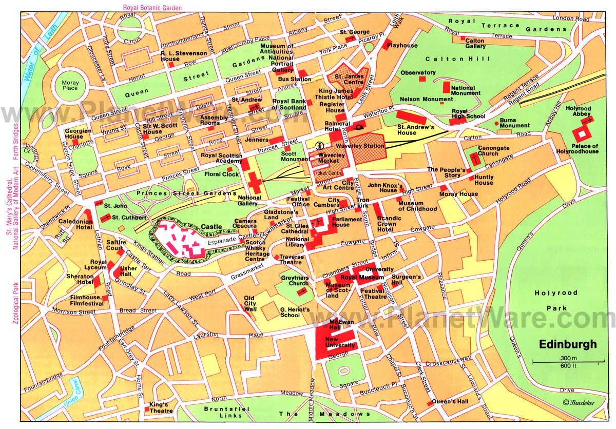 edinburgh map tourist attractions