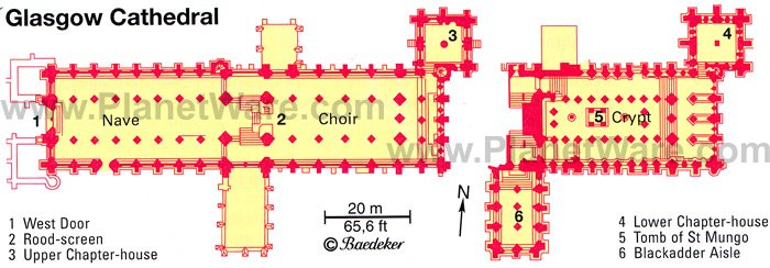 Glasgow Cathedral - Floor plan map