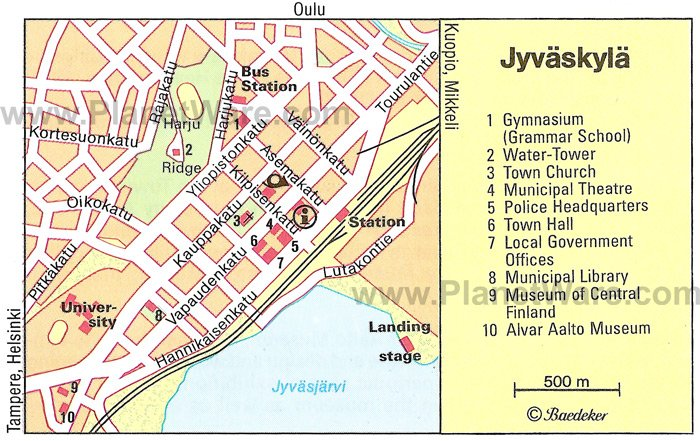 Jyväskylä Map - Tourist Attractions