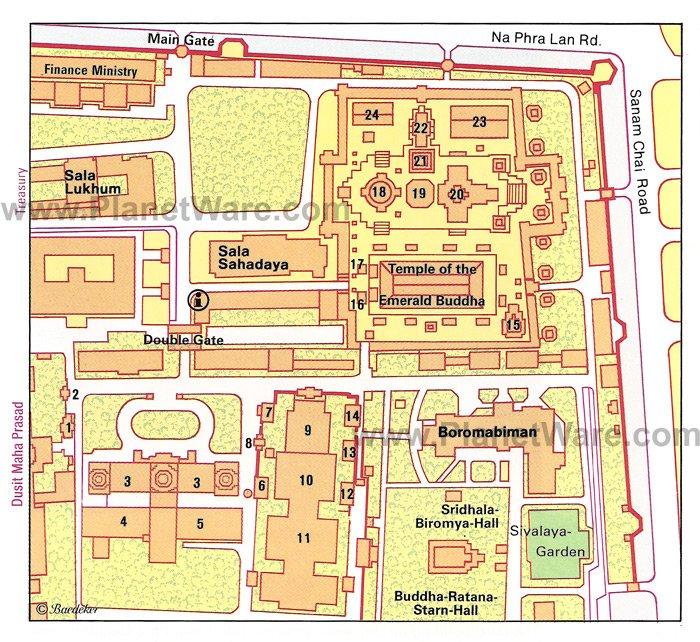 Большой дворец, Бангкок - Карта поэтажного плана